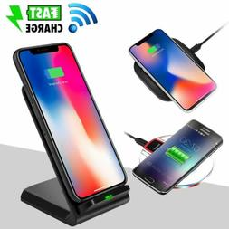 Fast Qi Wireless Charger Charging Pad Stand Dock for Samsung