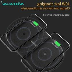 Nillkin Fast Qi Wireless Charger Dual Seat Pad For iPhone X
