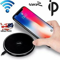 Fast Qi Wireless Charging Pad Stand Dock for iphone X XR Sam
