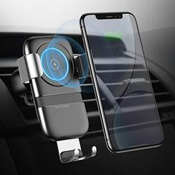 Humixx Fast Wireless Car Phone Holder Charger, Air Vent Phon