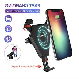Fast Wireless Car Charger Stand for iPhone 8/8 Plus/X, Wofal
