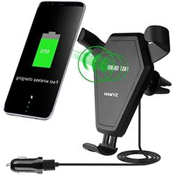 Fast Wireless Charger,Sywan Car Mount 2-in-1 Charing pad for