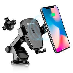 YIJINSHENG Fast Wireless Charger,Car Mount Air Vent Phone Ho