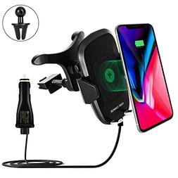 Wireless Charger Car Holder, Fast Charge Stand For Samsung S