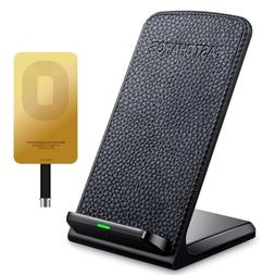 Fast Wireless Charger ivolks Leather Cordless CellPhone Rapi