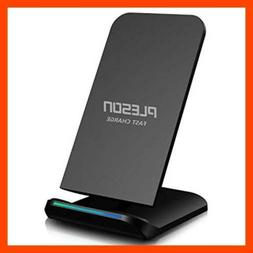 PLESON Fast Wireless Charger Qi Certified 10W Charging Pad S