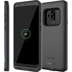 Galaxy S9 Plus Battery Case with Qi Wireless Charging Compat