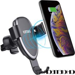CHOETECH Gravity Car Mount Qi Wireless Charger Fast Pad Hold