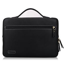 """FYY 12""""-13.3"""" Handmade Leather Sleeve Case Cover Briefcase B"""