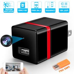 HD 1080P Spy Hidden USB Wall Charger Camera WiFi Wireless Se