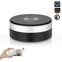 HD 1080P WiFi IP Spy Camera, Wireless charger WLAN Hidden Ho