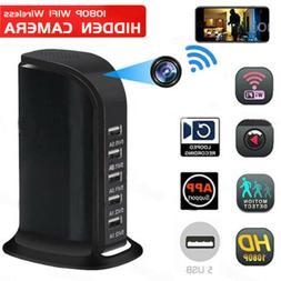 HD 1080P Wireless WIFI Hidden Camera Socket 5 USB Charger Vi