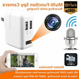 HD WiFi Security Hidden 1080P Camera Nanny Cam USB Wall Char