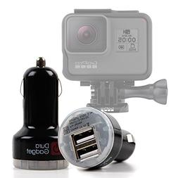 DURAGADGET In-Car 2 Port Travel Charger for GoPro Hero 6 Bla
