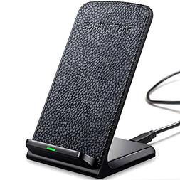 Heyee Wireless Charger,Cordless Leather Phone Charger Portab