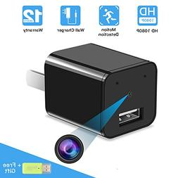 Hidden Camera USB Phone Charger Adapter, ieGeek HD 1080P Cam