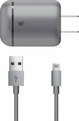 Just Wireless Home Charger for MicroUsb Devices Silver Samsu