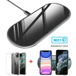 For iPhone 11 Pro Max 15W Qi Wireless Fast Charger Charging