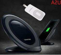 For iPhone 7 7+ 6S+ 6 SE 5S 5C Qi Wireless Fast Charger Char