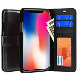 iPhone X Case, PLESON PU Leather Wallet Case Cover for iPhon
