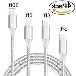 iPhone Charger, 4 Pack iPhone Cable  Lightning to USB Syncin