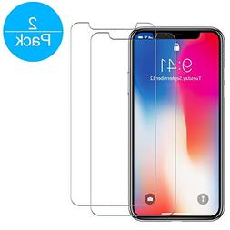 iPhone X Screen Protector , Tempered Glass Screen Protector
