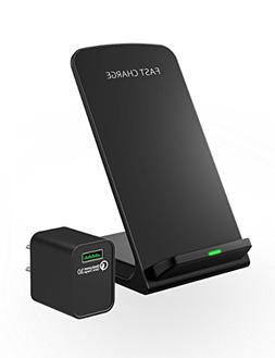 Seneo  Wireless Charger, Qi Certified 7.5W Fast Wireless Cha