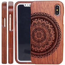 iPhone X Wood Cases - iPhone 10 Wooden Case Cover with Natur