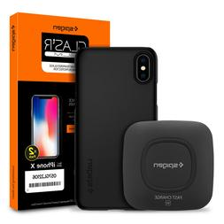 For iPhone X / 8 / 8 Plus Spigen® Wireless Charger+Case+Scr