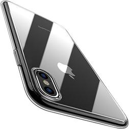 TOZO for iPhone X Case, Crystal Clear Soft TPU Gel Skin Ultr