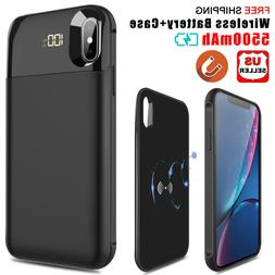 For iPhone XS Max/XS/X Qi Wireless Charging Battery Case Pow