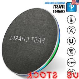 For iPhone XS X Max XR 7 8 Plus QI Wireless Fast Charger Cha