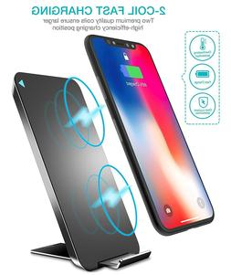 TOZO iPhoneX Wireless Charger Ultra Thin Android supported W