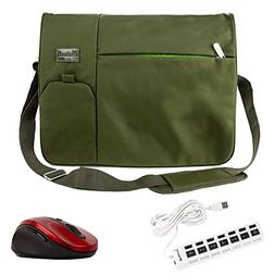 Italey Travel Notebook Carrying Shoulder Bag Olive Green for