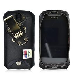 Kyocera DuraForce PRO Fitted Phone Case Black Nylon Metal Cl