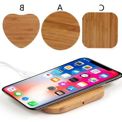 1 Qi Charger Slim Wood Pad Mat For iPhone 8