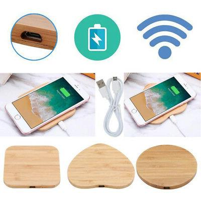 1 Wireless Charger Slim Wood Pad Charging iPhone 8