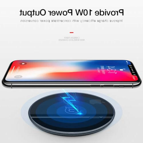 10W Fast Qi Charger Charging For iPhone XS