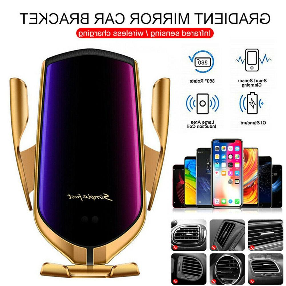 10W <font><b>Wireless</b></font> Automatic Phone in <font><b>Car</b></font> for iPhone Huawei Samsung SmartPhones