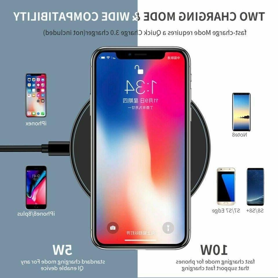 10W Metal Qi Charger Mat For XS Max Samsung S10