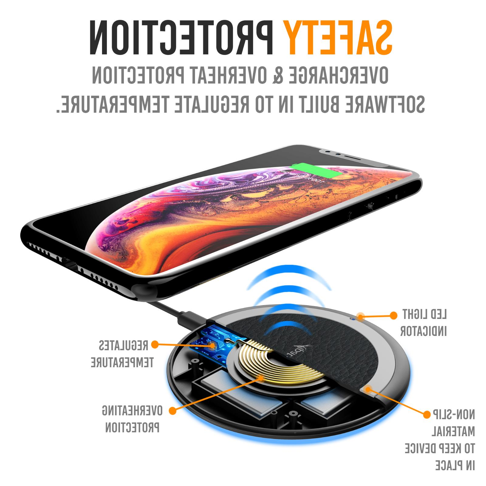 Qi Pad Charging Station for iPhone XS XR Galaxy