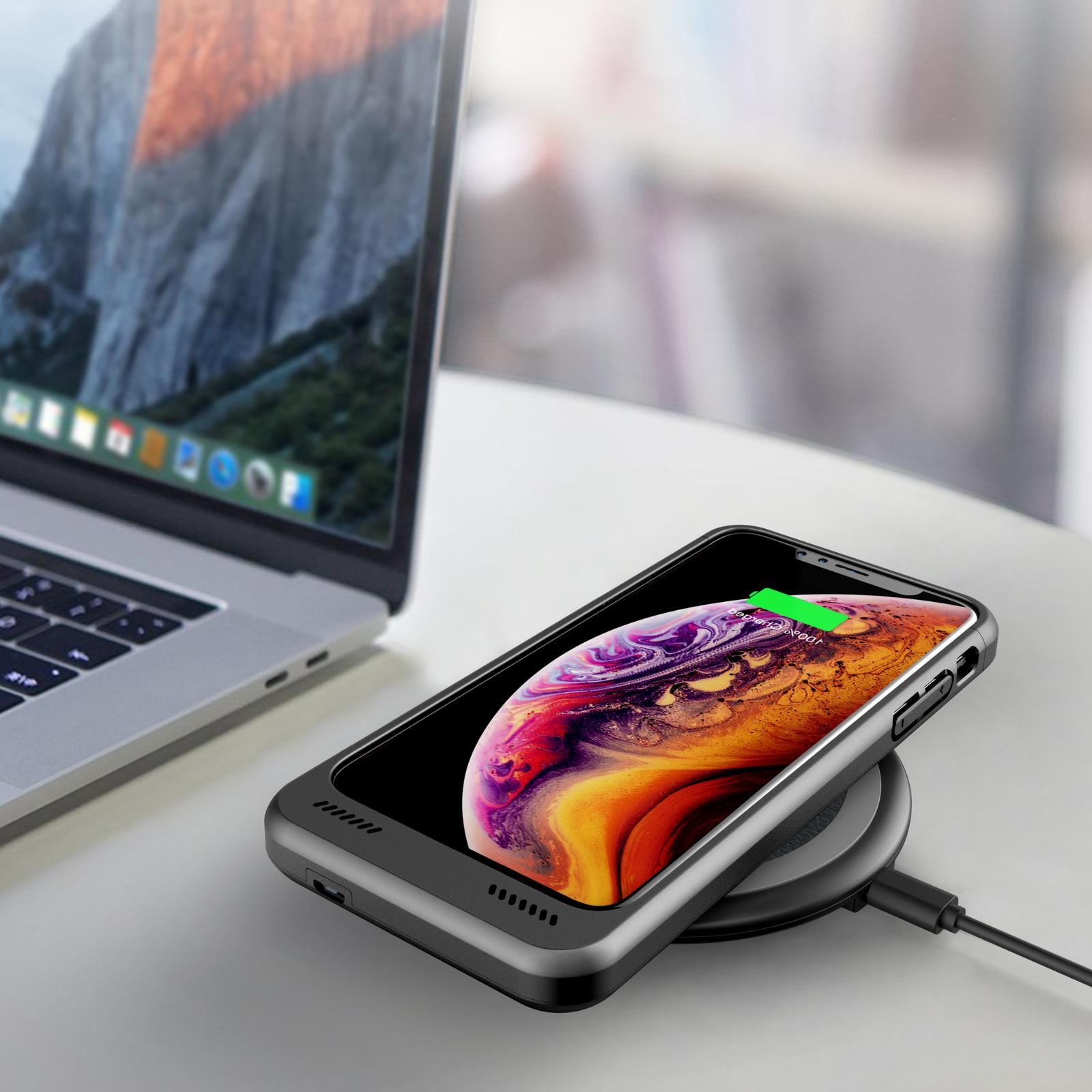 Qi Wireless Pad Charging Station for iPhone XS Max XR Galaxy S10