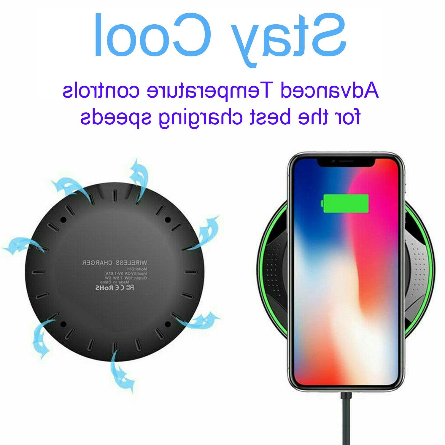 10W Fast Wireless for iPhone 11 X XR 8