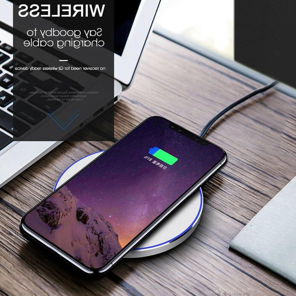 15W for iPhone MAX XR 8 Fast S8 S9 Plus Note 9 8 Phone <font><b>Charger</b></font> Pad