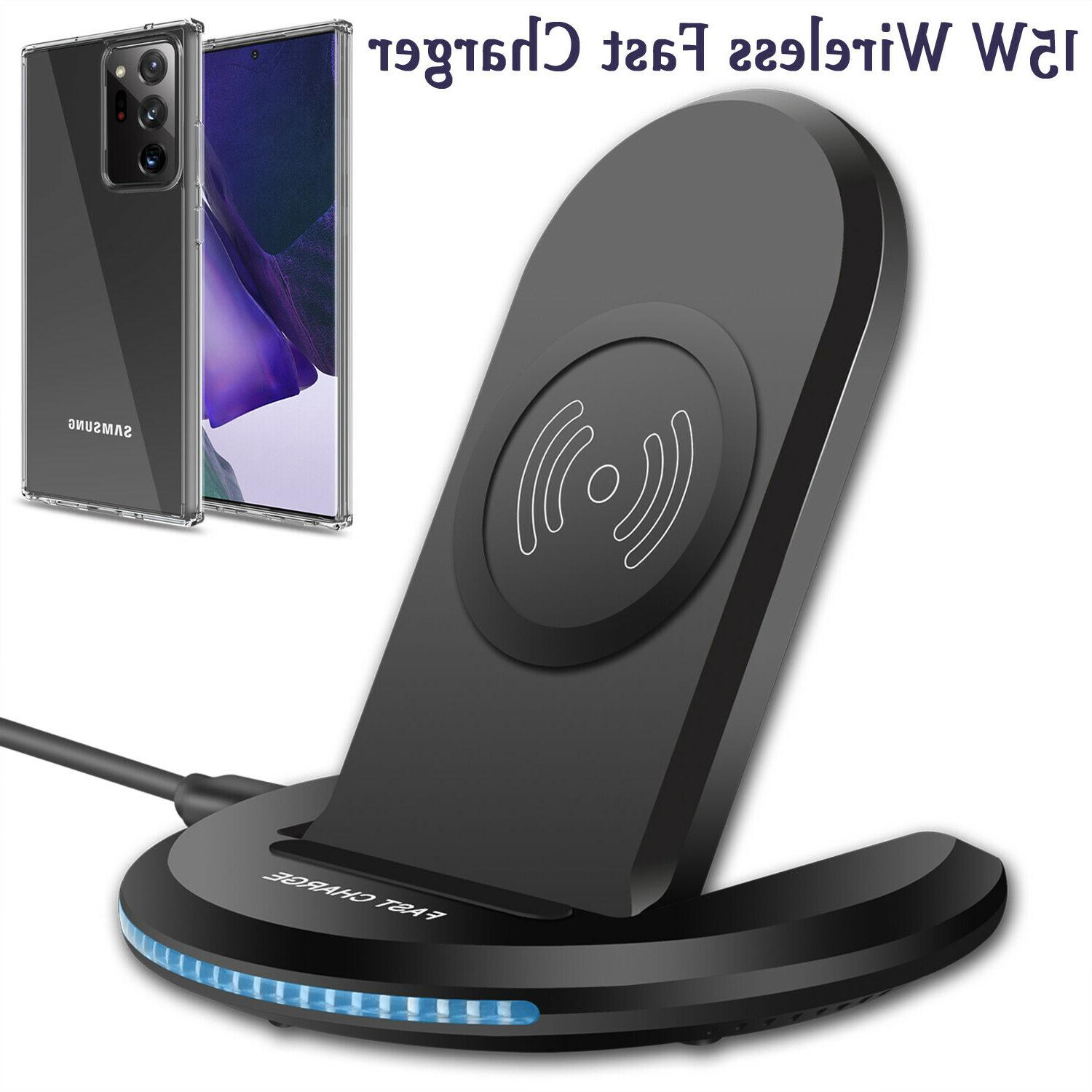 15w qi wireless charger fast charging stand