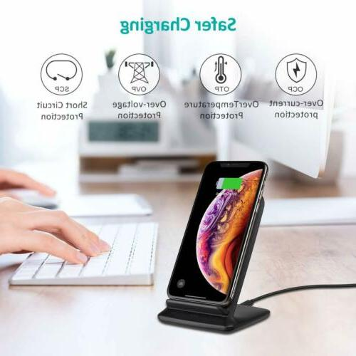 CHOETECH 15W Wireless Charger, Fast Wireless Charging Compatible
