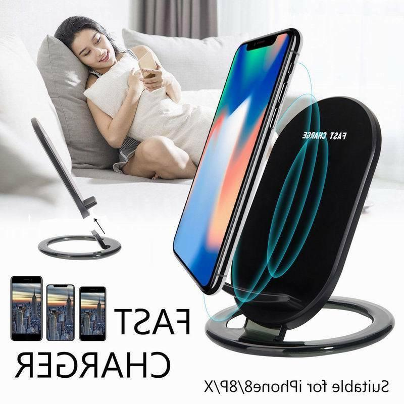 15W Wireless QI Fast Charger Charging Stand Holder For iPhon