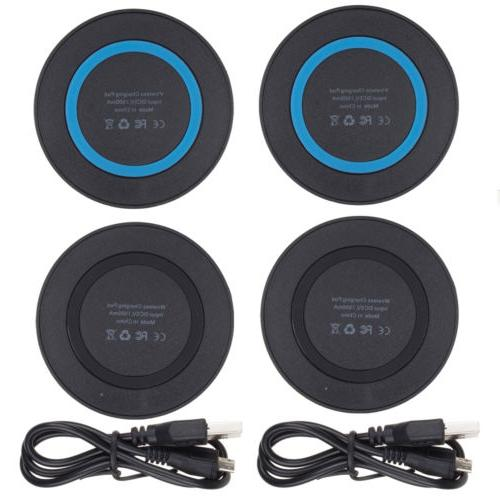 2 PCS Qi Wireless Charger Pad for Samsung Galaxy S8 S9 Plus