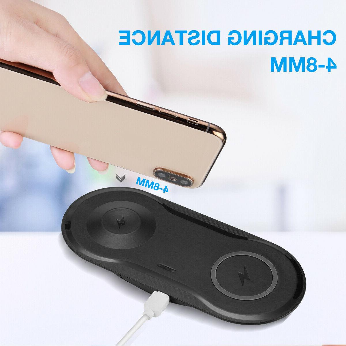 2 1 Qi Charger Dock Pad Apple Watch iPhone X 8