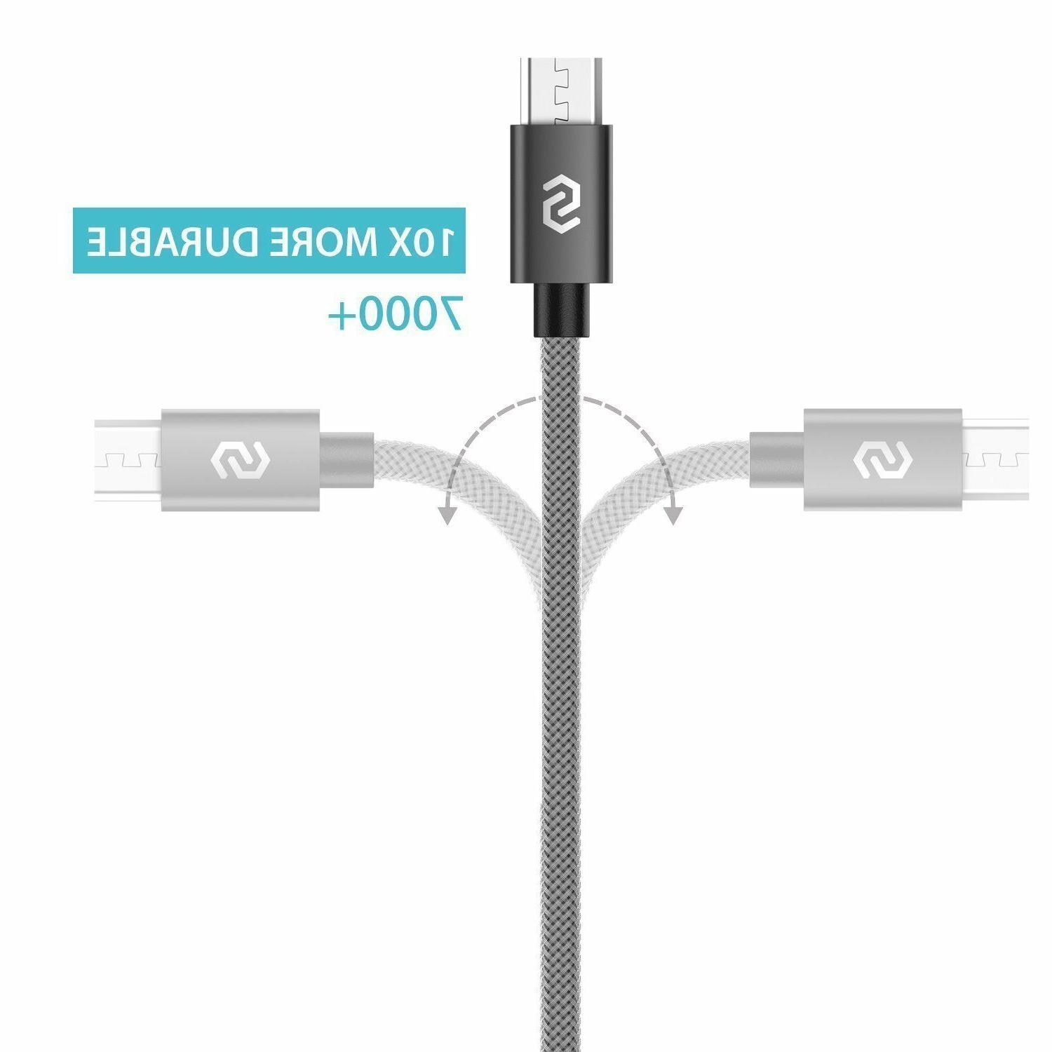 2-PACK Micro Cable Nylon for Galaxy S7 S6
